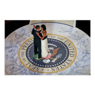 Barack and Michelle Obama dancing Inaugural Ball Poster