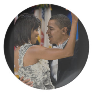 Barack and Michelle Obama Plates