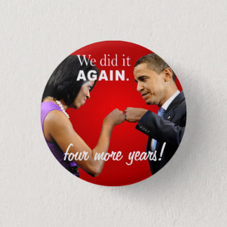 Barack and Michelle Obama victory fist bump 1 Inch Round Button