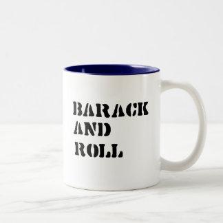 Barack and Roll T-shirt Two-Tone Coffee Mug