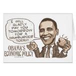 Barack Hamburger Eating  Anti-Obama Gear Card