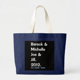 Barack Michelle Joe and Jill Commemorative Tote
