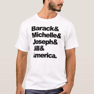 Barack & Michelle & Joseph & Jill & America T-Shirt
