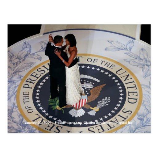 Barack & Michelle Obama dancing at Inaugural Ball Postcards
