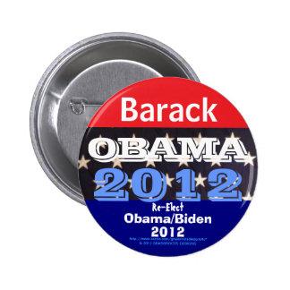Barack Obama 2012 Pinback Button