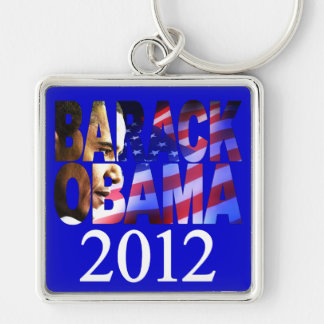 Barack Obama 2012 Profile Cutout Keychain