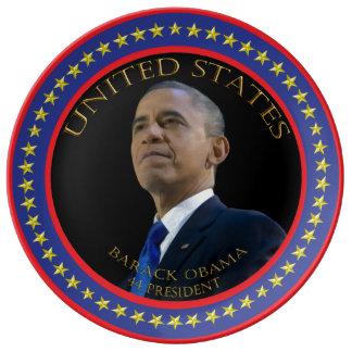Barack Obama 44 president Plate