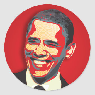 Barack Obama 44th President Classic Round Sticker