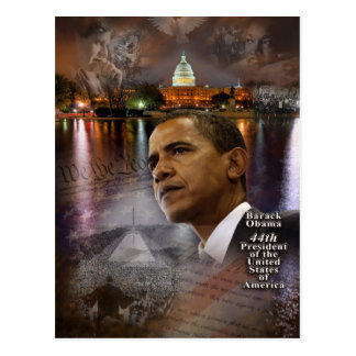 Barack Obama 44th President of the United States Postcard