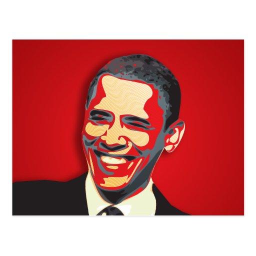 Barack Obama 44th President Post Card