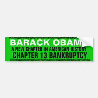 BARACK OBAMA A NEW CHAPTER IN AMERICAN HISTORY BUMPER STICKER