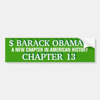 BARACK OBAMA-A NEW CHAPTER IN AMERICAN HISTORY BUMPER STICKER