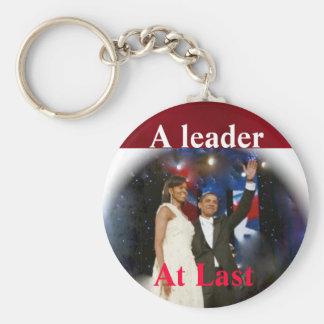 Barack Obama America's  Leader Keychain