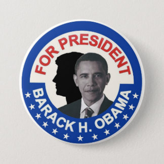 Barack Obama and JFK 3 Inch Round Button