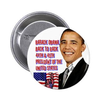 Barack Obama,Back To Back_ Pinback Button