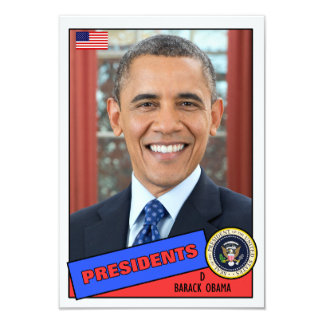 Barack Obama Baseball Card