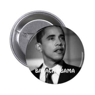 BARACK OBAMA BLACK & WHITE BUTTONS