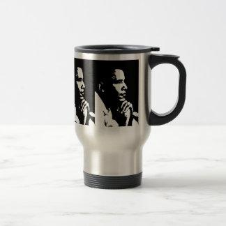 Barack Obama Black & White Profile Travel Travel Mug