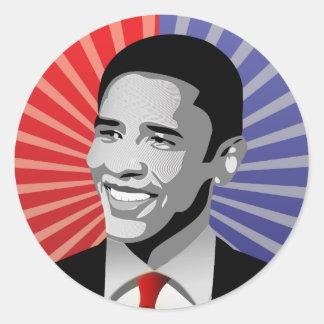 Barack Obama Bold Classic Round Sticker