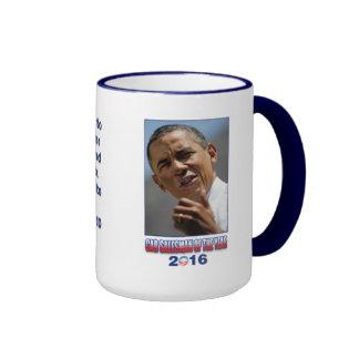 Barack Obama Car Salesman of the Year 2016 Ringer Coffee Mug