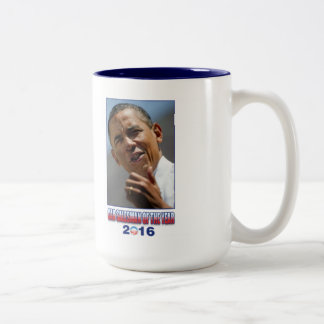 Barack Obama Car Salesman of the Year 2016 Two-Tone Coffee Mug