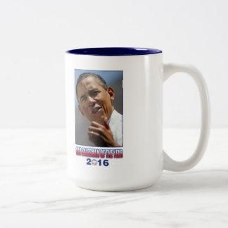 Barack Obama Car Salesman of the Year 2016 Two-Tone Coffee Mug