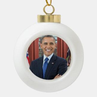 Barack Obama Ceramic Ball Christmas Ornament