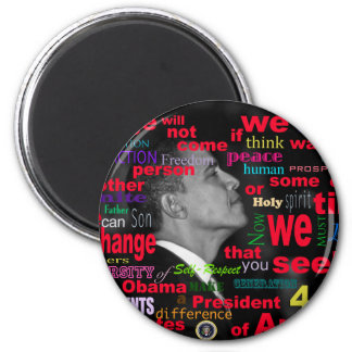 Barack Obama Change quote 2 Inch Round Magnet