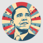 Barack Obama Classic Round Sticker