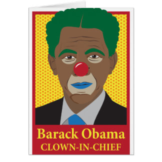 Barack Obama Clown Card