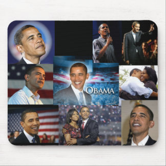Barack Obama Collage Mouse Pad