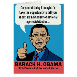 Barack Obama Customizable Card