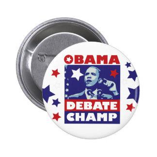 Barack Obama Debate Champion 2 Inch Round Button