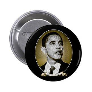 Barack Obama Dollar Portrait 2 Inch Round Button
