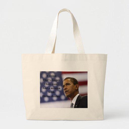 Barack Obama election Tote Bag