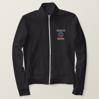 Barack Obama Embroidered Track Jacket