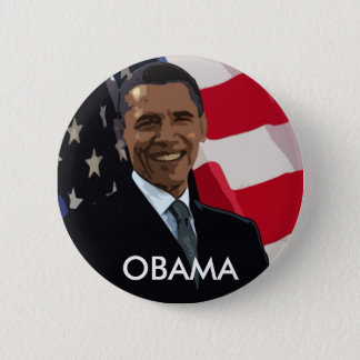 Barack Obama Flag Button