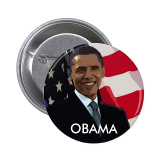 Barack Obama Flag Button
