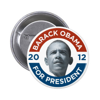 Barack Obama For President 2012 Buttons