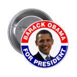 Barack Obama For President 2 Inch Round Button