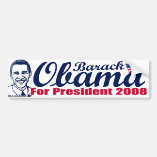 Barack Obama For President Bumper Sticker