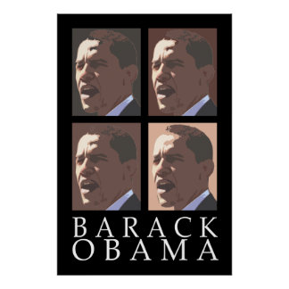 Barack Obama Four Portrait Poster