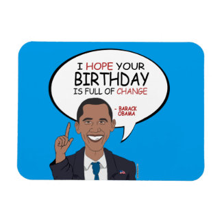 Barack Obama Greeting - Happy Birthday Rectangular Photo Magnet