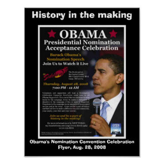 Barack Obama HISTORY IN THE MAKING Poster