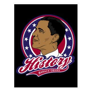 Barack Obama History Postcard