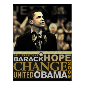Barack Obama Hope Postcard
