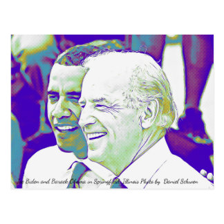 Barack Obama & Joe Biden Photo Postcard