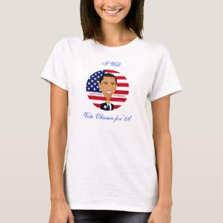 """Barack Obama - la chemise, vote Obama pour """"08"""", T-shirt"""