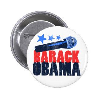Barack Obama Mic 2 Inch Round Button