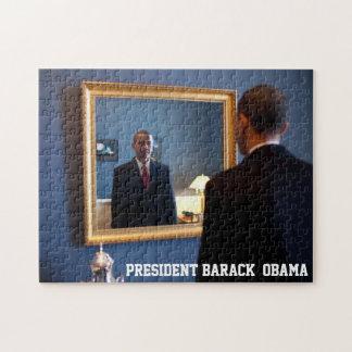 Barack Obama Mirror Reflection Jigsaw Puzzle